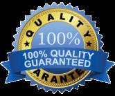 100% Quality Guarantee Seal